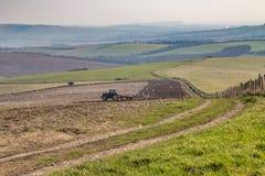 Paysage de ferme d'hiver du Sussex photographie stock