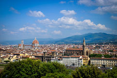 Paysage de Florence Photo stock