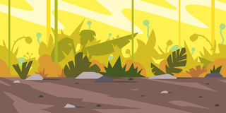 Paysage de fond de jeu de jungle illustration stock