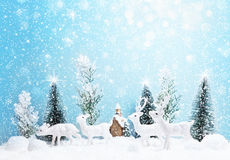Paysage de forêt d'hiver Photographie stock libre de droits