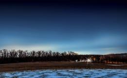 Paysage de forêt de nuit, nuit, extérieure Image libre de droits