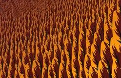 Paysage de forêt de pin au coucher du soleil en automne Images stock