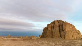 Paysage de forme de relief d'érosion de vent au crépuscule photos libres de droits