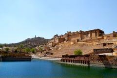 Paysage de fort d'Amer, ville d'Amer, Inde de Jaipur Ràjasthàn de périphérie Photo libre de droits