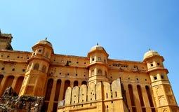 Paysage de fort d'Amer, ville d'Amer, Inde de Jaipur Ràjasthàn de périphérie Images stock
