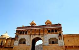 Paysage de fort d'Amer, ville d'Amer, Inde de Jaipur Ràjasthàn de périphérie Image stock