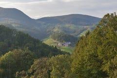 Paysage de gamme de montagne de la Slovénie photo stock