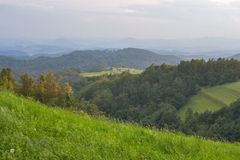 Paysage de gamme de montagne de la Slovénie photos stock