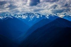 Paysage de gamme de montagne de Ridge d'ouragan en parc national olympique Photo libre de droits