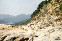Paysage de Geo-parc de Taïwan Yehliu Image libre de droits