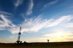 Paysage de gisement de pétrole Image stock