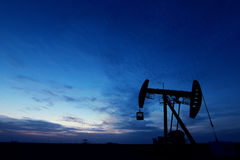 Paysage de gisement de pétrole Image libre de droits