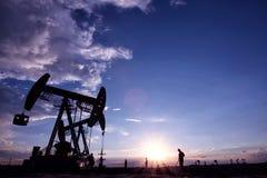 Paysage de gisement de pétrole Images libres de droits