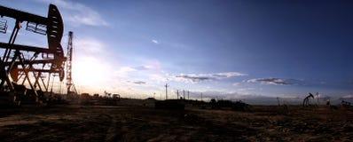 Paysage de gisement de pétrole Photo libre de droits