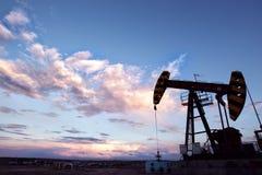 Paysage de gisement de pétrole Photos libres de droits