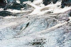 Paysage de glace de glacier dans les Alpes photographie stock libre de droits