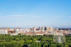 Paysage de grande roue en parc de Qingcheng, Hohhot, Inner Mongolia, Chine photographie stock