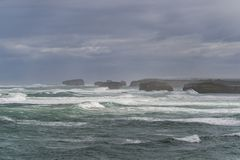 Paysage de grande route d'océan en Victoria Australia Images libres de droits