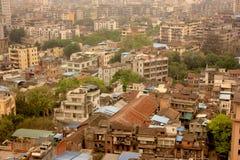 Paysage de Guangzhou, ville industrielle polluée Photo libre de droits