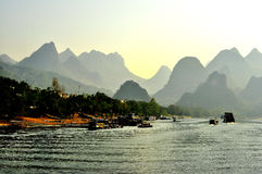 Paysage 004 de Guilin Photo libre de droits