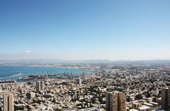 Paysage de Haïfa Image libre de droits