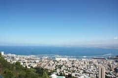 Paysage de Haïfa Images libres de droits