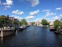 Paysage de Haarlem aux Pays-Bas images libres de droits