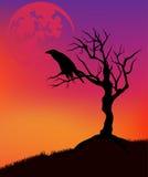 Paysage de Halloween Images stock
