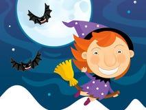 Paysage de Halloween de bande dessinée Photo stock