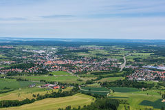 Paysage de Hechingen d'Allemand l'Europe de vert de terrasse de Hohenzoller photo stock