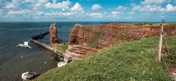Paysage de heligoland d'île beau images stock