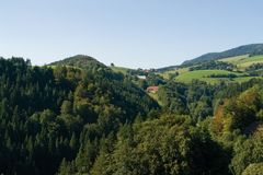 Paysage de Hilly Black Forest photo stock