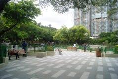 Paysage de Hong Kong Tuen Mun Park, en Chine Photographie stock libre de droits