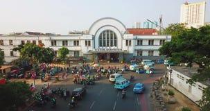 Paysage de Jakarta Kota Railway Station banque de vidéos