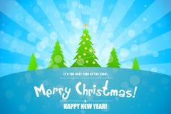 Paysage de Joyeux Noël Images libres de droits