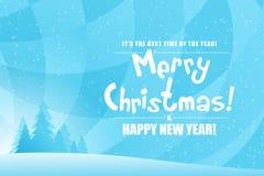 Paysage de Joyeux Noël Image libre de droits