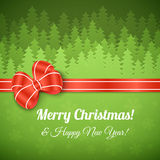 Paysage de Joyeux Noël Photo libre de droits