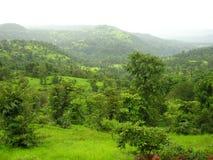 Paysage de Konkan au printemps Photographie stock