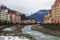 Paysage de Krasnaya Polyana, Sotchi, Russie image stock