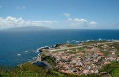 Paysage de l'île de Corvo Les Açores, Portugal Photographie stock libre de droits