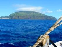 Paysage de l'île de Corvo Les Açores, Portugal Images stock