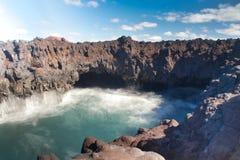 Paysage de l'eau d'îles Canaries image stock
