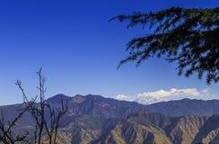 Paysage de l'Himalaya, Mussoorie Photographie stock libre de droits