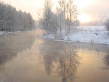 Paysage de l'hiver Photographie stock