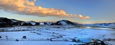Paysage de l'hiver des Shangri-La Image libre de droits