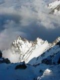 Paysage de l'hiver pendant l'inversion Photo libre de droits