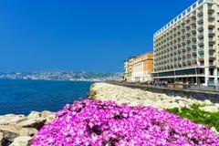 Paysage de la côte à Naples, Italie photo libre de droits