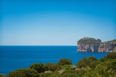 Paysage de la côte du capo Caccia, en Sardaigne photo libre de droits