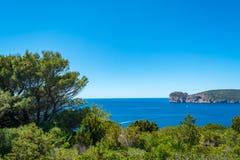 Paysage de la côte du capo Caccia, en Sardaigne image libre de droits