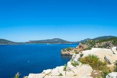 Paysage de la côte du capo Caccia, en Sardaigne images libres de droits